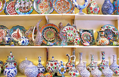 Classical Turkish ceramics stock images