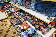 Classical Turkish ceramics on the market Stock Photo