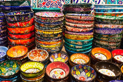Classical Turkish ceramics on the market Stock Photography