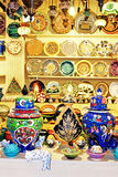 Classical Turkish ceramics on the market Royalty Free Stock Photos