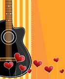Classical vector guitar. Royalty Free Stock Images