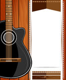 Classical vector guitar. Royalty Free Stock Photos