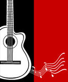 Classical vector guitar. Musical greeting card. Royalty Free Stock Photography