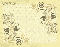 Classical vector wall-paper with a flower pattern Royalty Free Stock Image