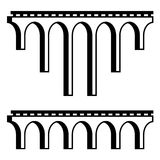 Classical viaduct bridge black symbol. Illustration for the web vector illustration