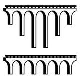Classical viaduct bridge black symbol Stock Photo