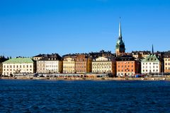 Classical view of Stockholm. Classical view of winter Stockholm City Stock Photo