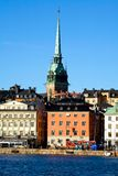 Classical view of Stockholm. Classical view of winter Stockholm City Stock Image
