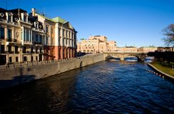 Classical view of Stockholm stock photo
