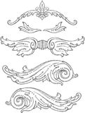 Classical Vintage Decor Ornaments Royalty Free Stock Photo