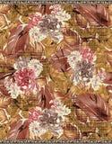 Classical vintage flower with digital background. Classical vintage flower with digital color background vector illustration