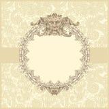 Classical vintage old frame design Stock Images
