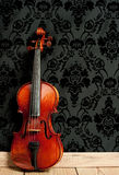 Classical violin. In vintage background Royalty Free Stock Photos