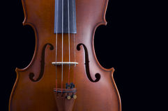 Classical violin. Violin - isolated on black background Royalty Free Stock Images