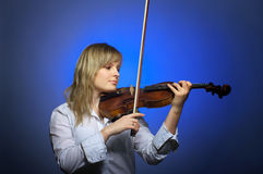 Classical violin concert Stock Photo