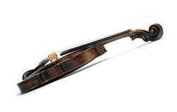 Classical violin instrument in side view Royalty Free Stock Photo