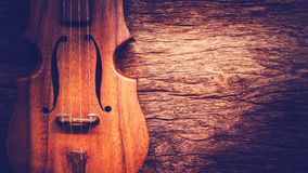 Classical violin on old wood Stock Images