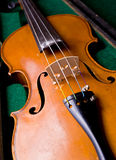 Classical vionlin in case stock images