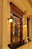 Classical wall lighting and door Royalty Free Stock Photo