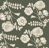 Classical wall-paper with a flower pattern. Royalty Free Stock Photos