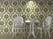 Classical wallpaper interior Royalty Free Stock Photo