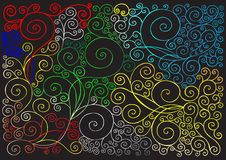 Classical wave background Royalty Free Stock Images
