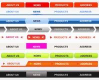 Classical Web Buttons. Classical Web Navigation Bar Set Stock Photography