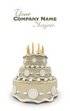 Classical wedding cake Stock Images