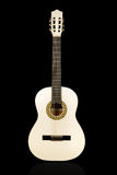 Classical white acoustic guitar Stock Photo