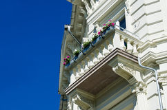 Classical  white building with balcony Stock Photography