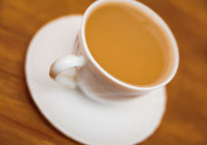 Free Classical White Cup Of Milk Coffee On Table Blur Backgrounds Stock Photography - 46230422