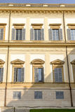 Classical windows at Villa Reale, Monza, Italy Royalty Free Stock Image
