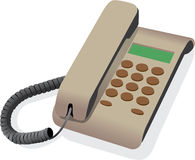 Classical wired telephone Royalty Free Stock Photography