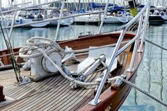 Classical wooden sailing boat Royalty Free Stock Images