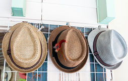 Classical woven hat Stock Images