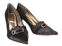 classicen shoes kvinnan Arkivbilder