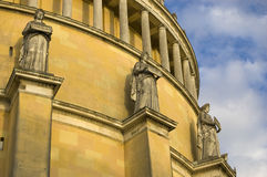 Classicism in detail. The Befreiungshalle (Hall of Liberation) is an historical classical monument upon Mount Michelsberg above the city of Kelheim in Bavaria Stock Photos