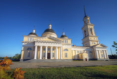 Classicism style cathedral, Russia. Nevjansk cathedral classicism style, Russia Royalty Free Stock Image