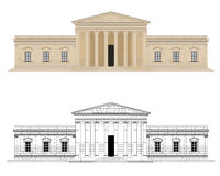 Classicist Palace Vector Illustration Royalty Free Stock Photo