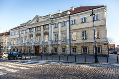 Classicist Raczynski Palace in Warsaw Royalty Free Stock Images