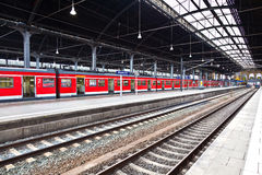 Classicistical railway station Royalty Free Stock Photos