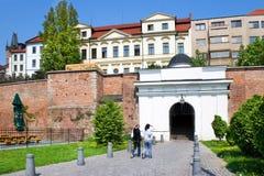 Classiciststil täckte trappuppgången Bono Publico, historisk stad Arkivfoto