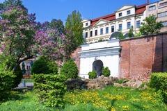Classiciststil täckte trappuppgången Bono Publico, historisk stad Arkivbild