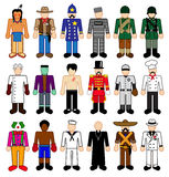 Classick Characters Stick Figures stock illustration