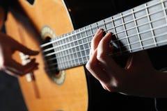 Classick guitar player Stock Image