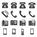 Classico del telefono dell'icona allo smartphone Immagine Stock