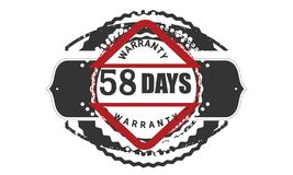 classico di progettazione della garanzia da 58 giorni, migliore bollo nero illustrazione vettoriale