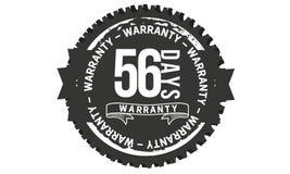 classico di progettazione della garanzia da 56 giorni, migliore bollo nero illustrazione di stock