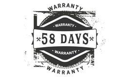 classico di progettazione della garanzia da 58 giorni, migliore bollo nero illustrazione di stock