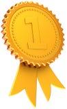 Classico dorato del nastro del premio del primo posto Fotografia Stock Libera da Diritti